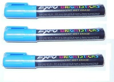 3 Expo Dry Erase Bright Stick Markers Factory Sealed Markers Brand New