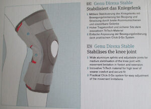 Ottobock Genu Direxa Stable 8375N Medical Knee Support, Size - S Stratford Kitchener Area image 6