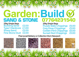 Sand & Stone. Free local delivery
