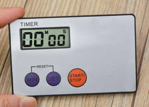 Digital Timer Study Rest Pocket Cooking Kitchen Credit Card Size Countdown HOT