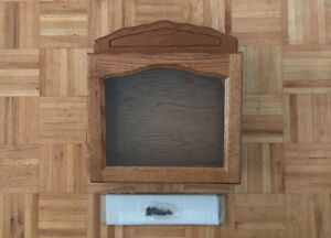 Solid Oak Display Case Wall Mounted Brand New