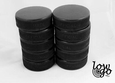 10 x Eishockeypuck schwarz offiziell Erwachsene Eishockey Neu 1. Wahl