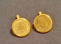 BROOKS BROTHERS...CUFF LINKS....classic gold coin links.