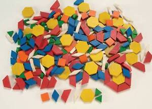 School smart wooden pattern blocks set of 250 assorted shapes and