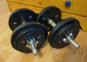 8 lbs dumbells  2 pieces