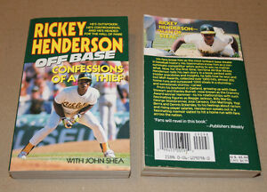 Rickey Henderson Off Base: Confessions of a Thief, Paperback Strathcona County Edmonton Area image 1