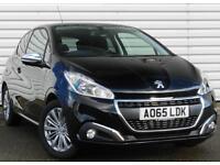 Peugeot 208 1.2 Petrol ALLURE Manual 3 Door Hatchback Black 2015