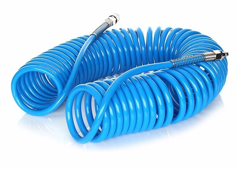 Spiral Pneumatic Air Hose Pipe Airline Connections Tube Fittings compressor 8 x 12 or 5 x 8 10m 15m
