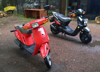 Red 1990 Yamaha Razz
