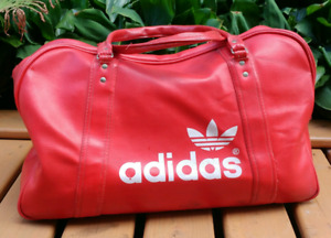 Vintage 1970s/80s Red ADIDAS Gym Sports Travel Tote Bag