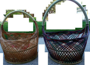 2 large wicker baskets, $10 for both;