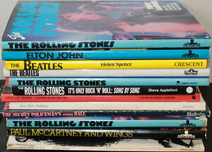 12 Rock Music Related Picture & Sheet Music Books