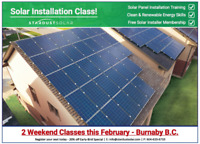 Solar Panel installation class with Stardust Solar Weekend +1