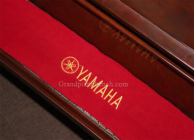 Yamaha Piano Key Cover - Red Felt Embroidered Keyboard Cover