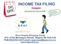 Income Tax Preparation and filing in Regina