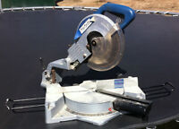 Mitre Saw, Cordless reciprocating saw and drill
