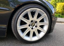 18 inch Bmw Style 95 Type Alloy Wheels & Tyres - e46 e60 1 series -