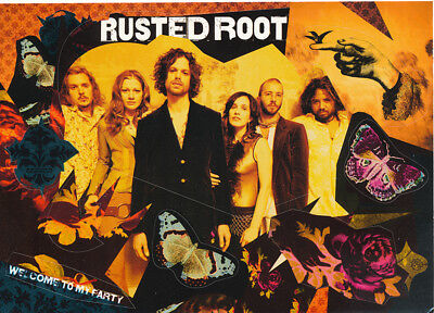 Rusted Root Welcome to my Party / When I Woke... + Logo RARE promo stickers