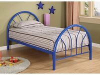 Single Metal Bed and Mattress Good Condition Can Deliver