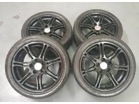 "HONDA CIVIC TYPE R 17"" 5X114.3 ALLOY WHEELS + FEDERAL RS-R TRACK TYRES"