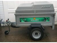 Daxara 127 galvanised trailer with abs lockable cover