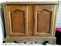 Solid heavy wood cupboard