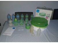 MAM steriliser and bottles bundle teats etc