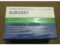 Oxford Handbooks Clinical Tutor Study Cards SURGERY