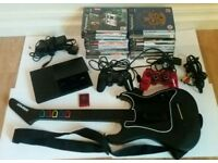 Sony PS2 Slimline console lot 2 ds cntrl 20 games & More!!