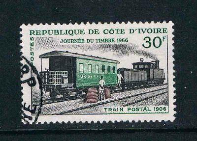 Ivory Coast 1966 Stamp Day (Mail Train) o/FU SG 272