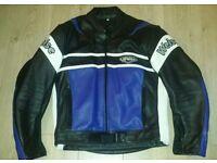 """Weise Motorcycle Leather Jacket Size XL 44"""" Chest Bike Jacket"""