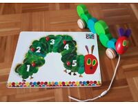 Hungry Caterpillar Puzzle and Pull-along toy