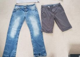 """PAIR OF JEANS & SHORTS 30"""" Waist"""