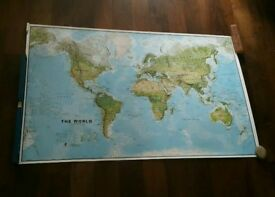 Enormous world map poster