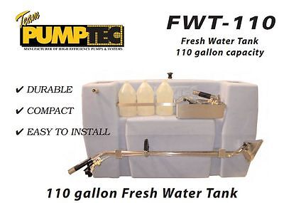 Carpet Cleaning - Pumptec Truckmount 110 Gal Fresh Water Tank
