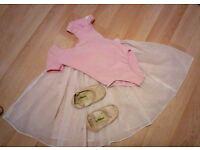 Ballet gear: leotard, skirt and shoes