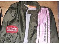 New Superdry M rain coat