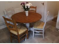 M and S dining table and chairs