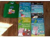 Peppa pig NEW BOOKS 11 with book bag