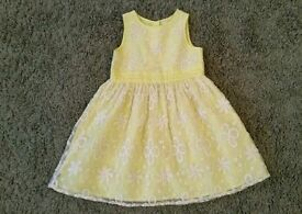 Age 3-4 yellow lace party dress