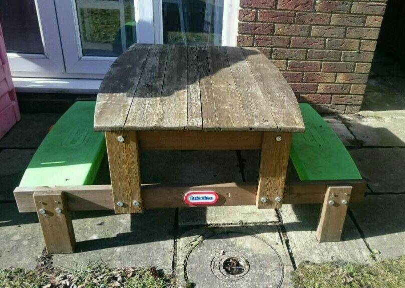 Little Tikes Wooden Sand And Picnic Table In Consett County Durham