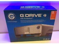 **NEW SEALED - G-DRIVE GDRIVE G-TECHNOLOGY 8TB - USB 3 3.0 THUNDERBOLT RAID HARD DRIVE - 0G04997**