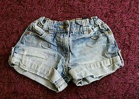 Girls shorts age 5-6yrs