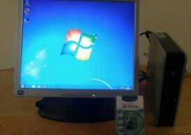 HP Compaq DC7900 Ultra Slim Form Desktop Computer PC & 17 LCD