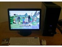 MINECRAFT GAMING Dell XPS 430 Quad Core Desktop Computer PC With Dell 21""