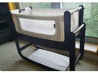 Snuzpod Espresso bedside crib