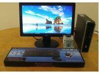 HP Ultra Small Home & Business PC Desktop Computer & Benq 19 LCD Widescreen Windows 10