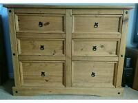 Corona 6 drawer chest of drawers