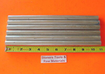 6 Pieces 58 Aluminum 6061 Round Rod 11 Long Solid .625 T6511 Lathe Bar Stock
