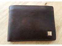 Men's brown real leather wallet NEW unused